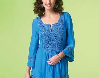 McCall's Sewing Pattern M7128 Misses' Peasant Tops and Tunic