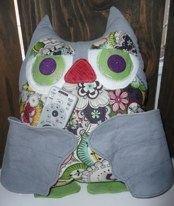 Decorative Bed Pillow Storage : Owl Pillow Owl Storage Pillow Home Decor Pillow Storage