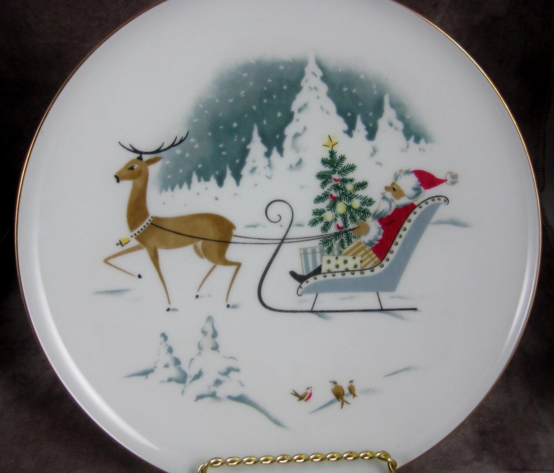 Vintage Germany Santa Dinner Plate H Amp Co Heinrich Bavaria