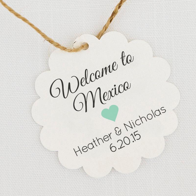 Destination Wedding Gift Tags : Destination Wedding Favor Tags Wedding Welcome Bag Tags