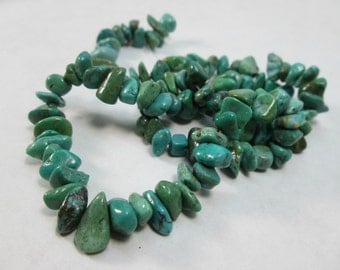 Nevada Turquoise Small Nugget Chip Beads, 5-13mm
