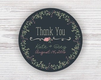 Personalized Wedding Stickers Thank You Custom Wedding Stickers