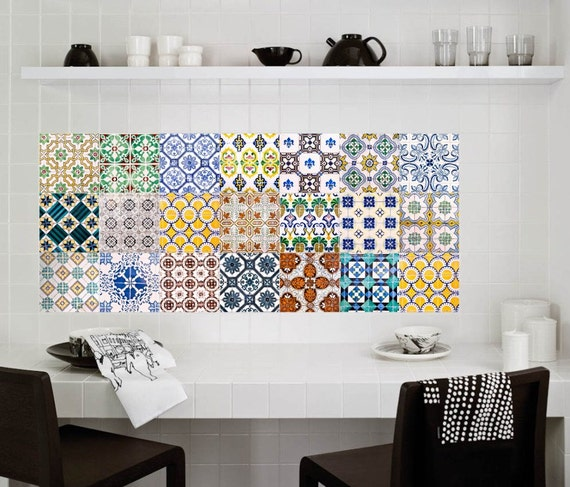 Stickers autocollants tuile stickers stickers carrelage for Mosaique autocollante pour cuisine