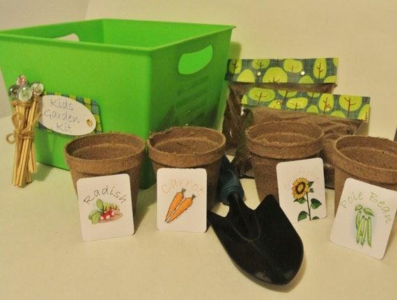 Kids garden kit diy garden kit kids easter gift childrens for Gardening kit for toddlers