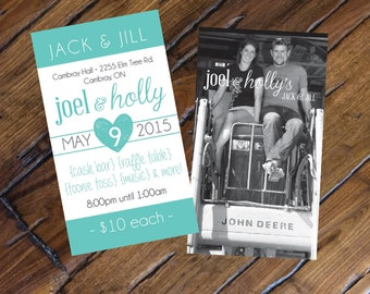Jack and Jill Tickets // Buck and Doe Tickets // Instant Download // Digital File