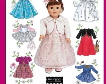 OUT of PRINT Simplicity Pattern 4364 18-inch Doll Clothes
