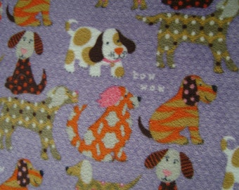 Woof Woof Puppies AntiPill Fleece Fabric Sold by the Yard