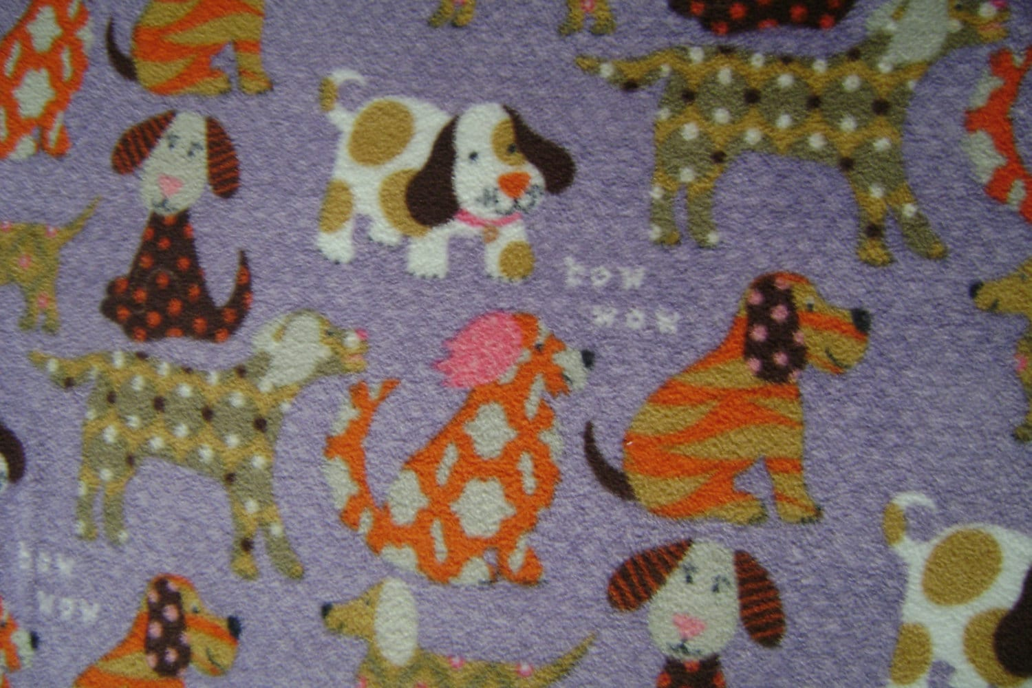woof woof puppies antipill fleece fabric sold by the yard. Black Bedroom Furniture Sets. Home Design Ideas
