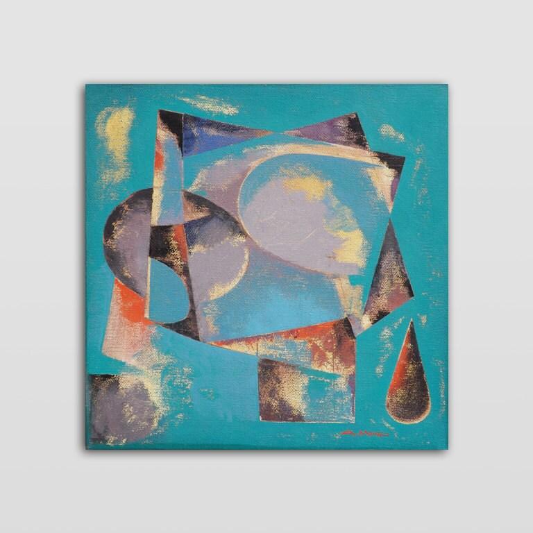 Peinture abstraite g om trique moderne petite taille par for Peinture moderne geometrique