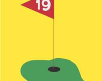 Golf Handcrafted Applique House Flag