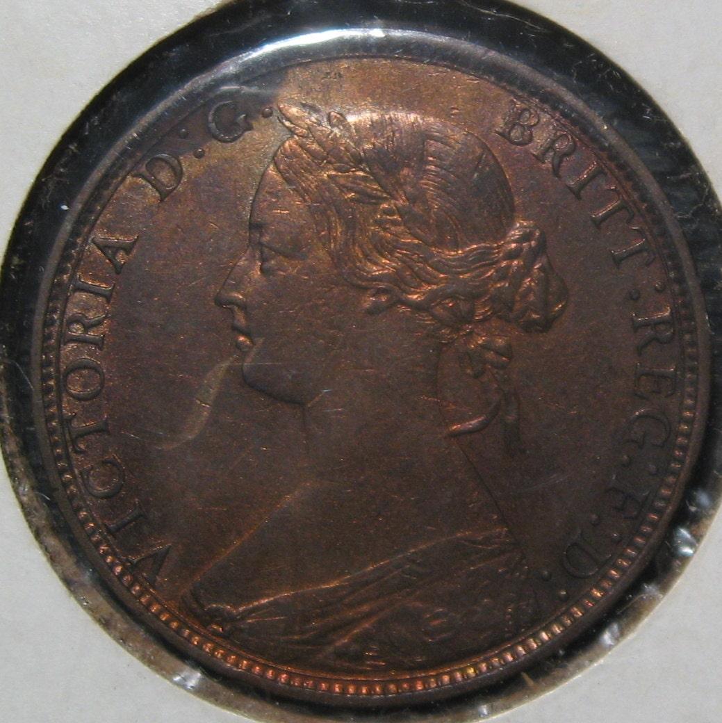 British Coin Great Britain Victoria Coin1862 Half Penny