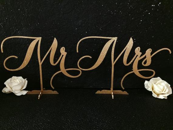 Mr. & Mrs. Sign, Mr and Mrs sign for Wedding, Mr. Mrs. Signs for Sweet Heart Table, Mr. Mrs. Signs for Home Decor