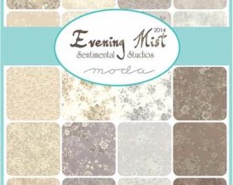 Custom Hexagon Quilt, in Moda Evening Mist Fabrics, Ecru, Moonbeam, Cream, Lavender and Purples