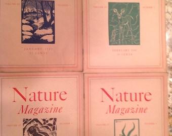 6.00 each  Vintage 1942 Nature Magazine Complete
