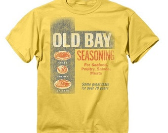 Old Bay Washed Can Art - Yellow T-Shirt