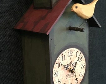 Decorative Bird House Clock