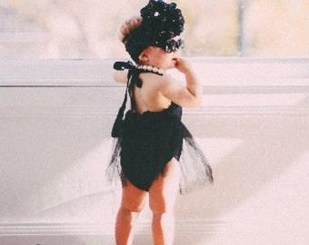 Black Sparkle Floppy Bow