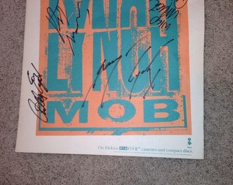 """Lynch Mob Signed poster (Album Sized) 12"""" x 12"""" - All Four Members Signed!"""