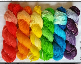 Ombre Rainbow Yarn Set