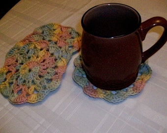 Set of 4 - Crocheted Beverage Coasters