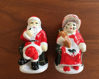 Mr. and Mrs. Santa Salt & Pepper