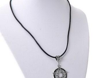 collana wicca magic talismano pentacolo star 5 punte