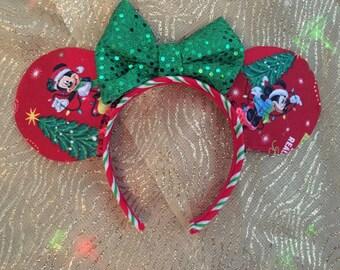 Christmas Ears Very Merry Christmas Minnie Mickey Mouse Holiday Ears