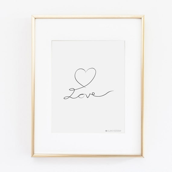 Printable Family Wall Decor : Love printable art wall decor for home by alwaysyesterday