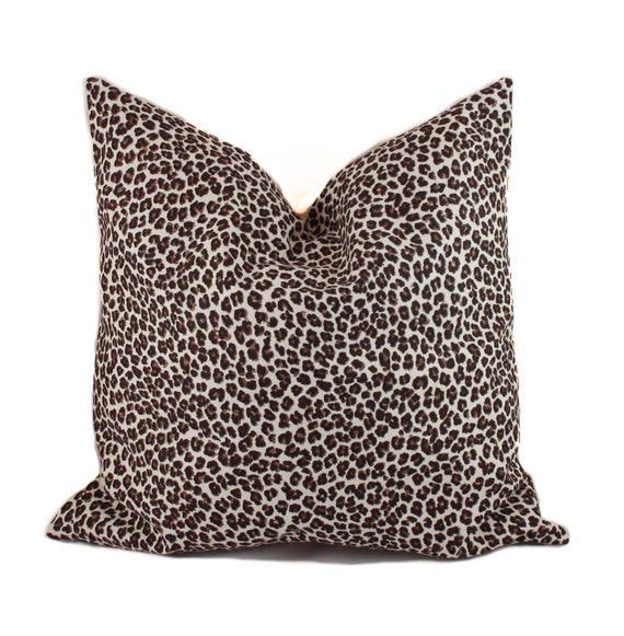 Animal Print Sofa Pillows : Leopard pillow 18x18 Animal print pillow Decorative pillow
