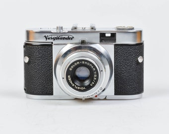 Voigtlander Vito B 35mm Camera In Leather Case, 1954-57