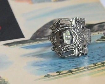 spoon ring, greece ring, crest ring,glucksburg ring,