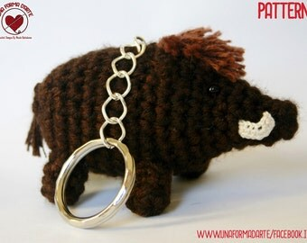 Boar Cub Key Ring