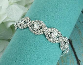 Rhinestone Bridal bracelet, wedding bracelet, rhinestone crystal bracelet, crystal bracelet, bridal jewelry, wedding accessories 210200873