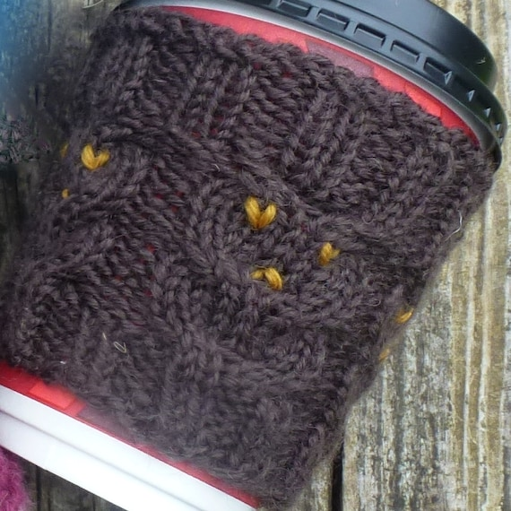 Double Knitting In The Round Tutorial : Knitting pattern us for coffee cozies to fit takeaway