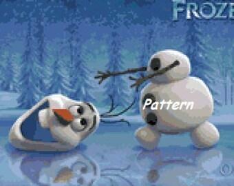Olaf #2. Frozen. Cross Stitch Pattern. PDF Files.