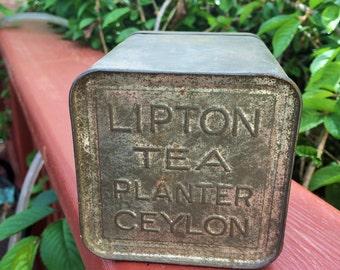Two Vintage Lipton's Tea Tins