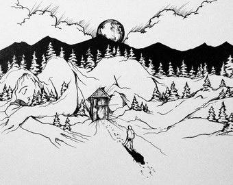 "Art Print 8x10inch . ""Hibernation"""