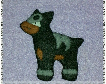 Pokemon inspired Houndour brooch