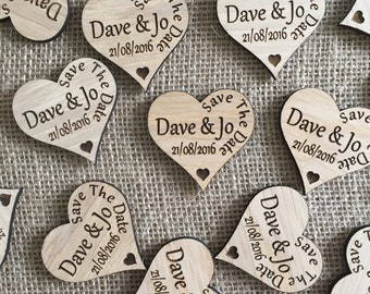 Save The Date Heart Fridge Magnets