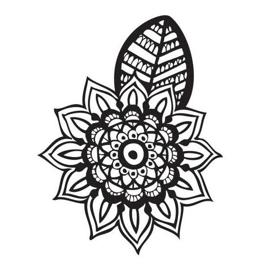 mandala tattoo aufkleber von majo mrtz. Black Bedroom Furniture Sets. Home Design Ideas