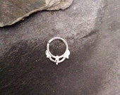 Septum piercing or cartilage earrings silver