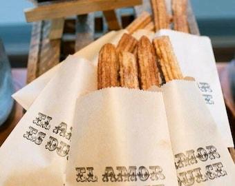 Love is sweet - El Amore Es Dulce Wedding Favor Bags