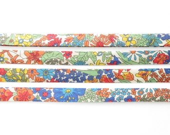 Margaret Annie - A Liberty fabric bias binding 1x Yard - 10mm wide, Liberty fabric UK, sewing supplies and jewellery making for crafters