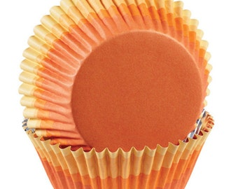 Orange Ombre ColorCups Greaseproof Cupcake Liners Baking Cups Muffin Cups - Orange Cupcake Liners