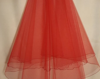 Red Wedding Veil, Two Layers