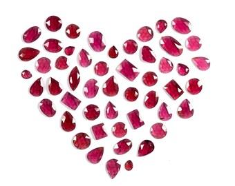 Garnet Slices, Rose Cut Garnet, Garnet Cabochons, Loose Garnet, Garnet Gemstones, Oval Garnet, Pear Garnet, Round Garnet