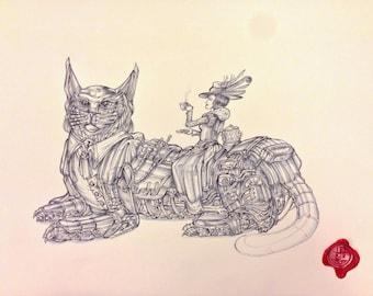 Lady Earl Grey & Cat Sentinel