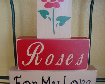 SALE SALE SALE!!! Love gift romance home decor stacker