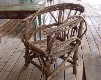 Items Similar To Plan How To Build Rustic Bent Willow Twig Chair Child Size Diy Make Your Own