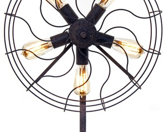 Vintage Fan Table Lamp